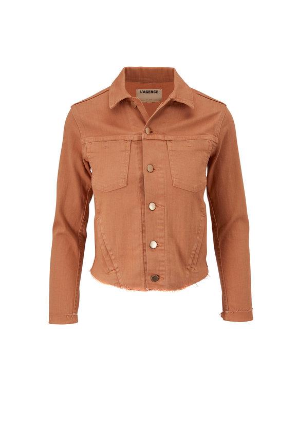 L'Agence Janelle Camel Slim Fit Denim Jacket