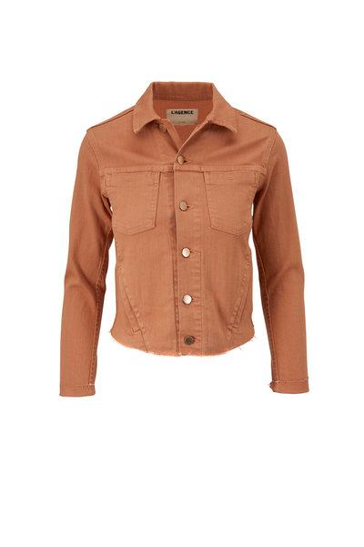 L'Agence - Janelle Camel Slim Fit Denim Jacket