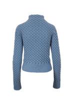 Giorgio Armani - Blue Textured Mockneck Sweater