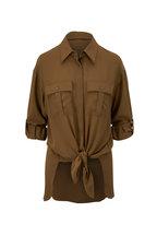 Michael Kors Collection - Juniper Knotted Silk Utility Shirt
