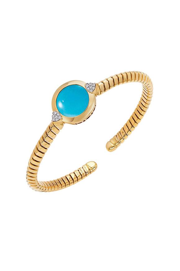 Marina B Soleil Turquoise & Diamond Bangle