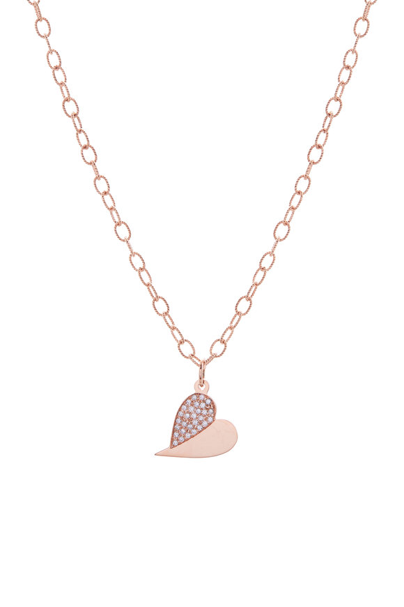 Genevieve Lau Rose Gold Diamond Heart Anklet