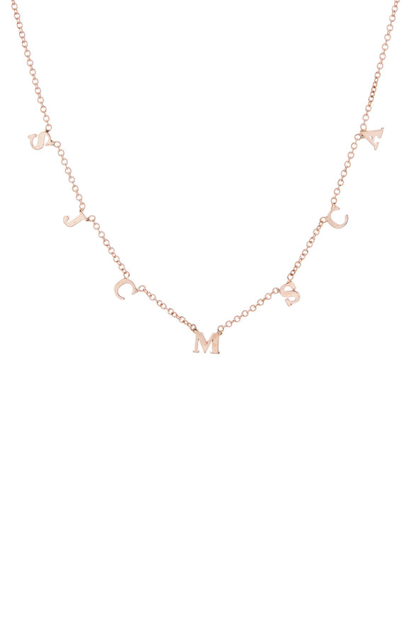 Genevieve Lau Customizable Rose Gold Anklet