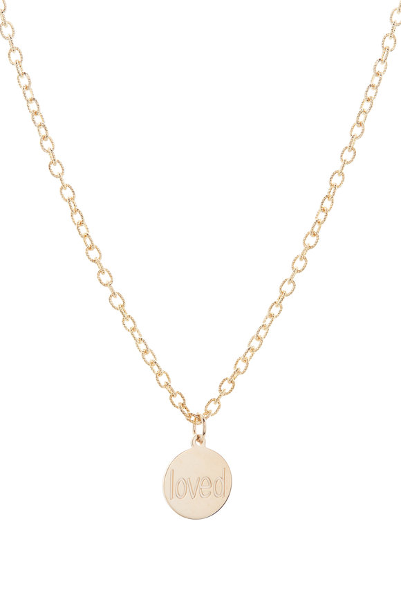 Genevieve Lau Yellow Mini Loved Pendant Chain Anklet