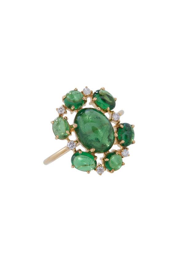 Loriann Tsavorite & Diamond Ring