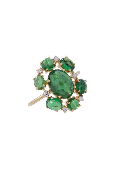 Loriann - Tsavorite & Diamond Ring