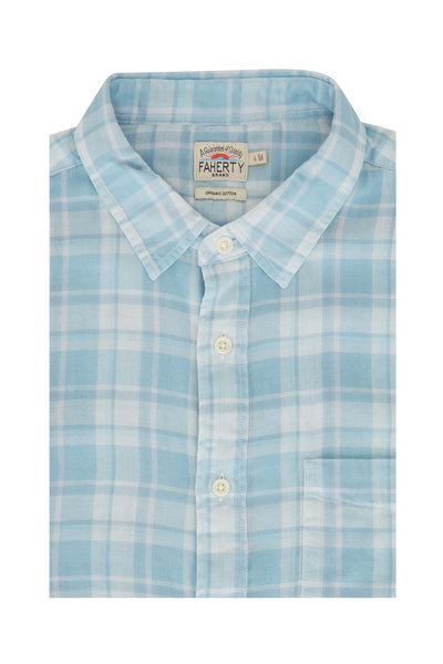 Faherty Brand - The Chill Turquoise Cotton Sport Shirt