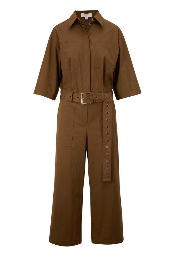 Michael Kors Collection Juniper Belted Utility Jumpsuit