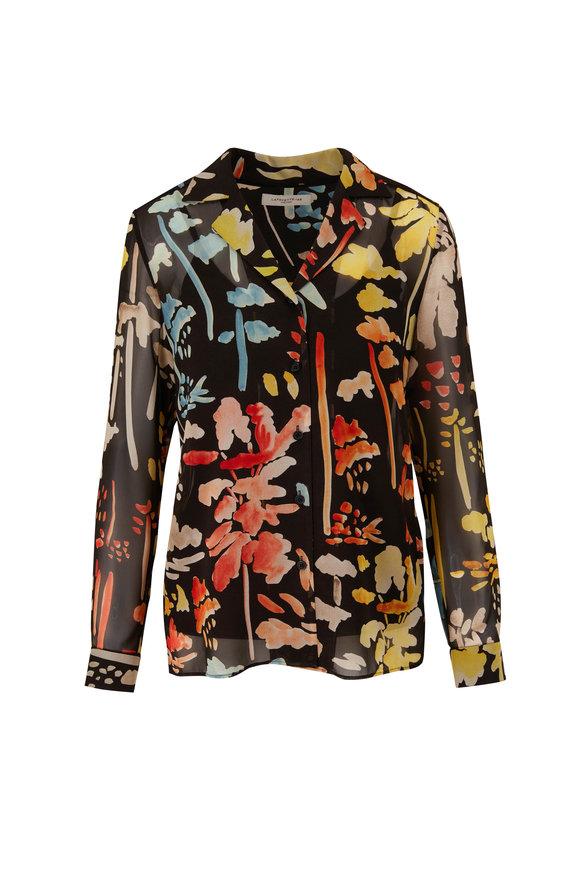 Lafayette 148 New York Rigby Blooming Eden Silk Blouse