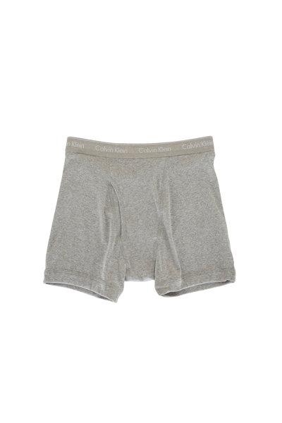 Calvin Klein - Three Pack Gray Boxer Brief