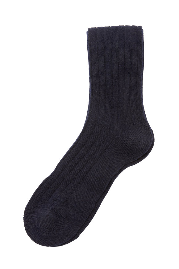 Pantherella  Navy Blue Cashmere Blend Socks