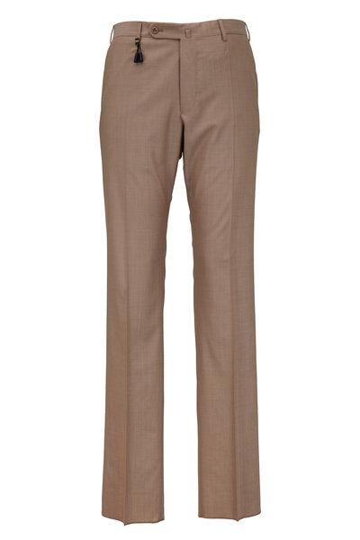 Incotex - Benson Tan Wool Trousers