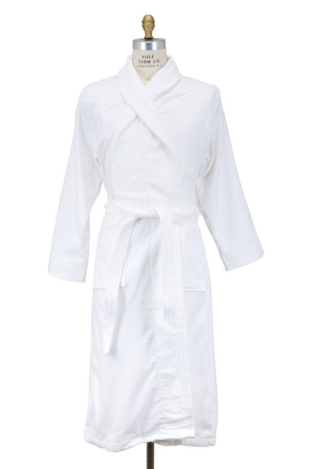 Triton White Terry Cotton Robe