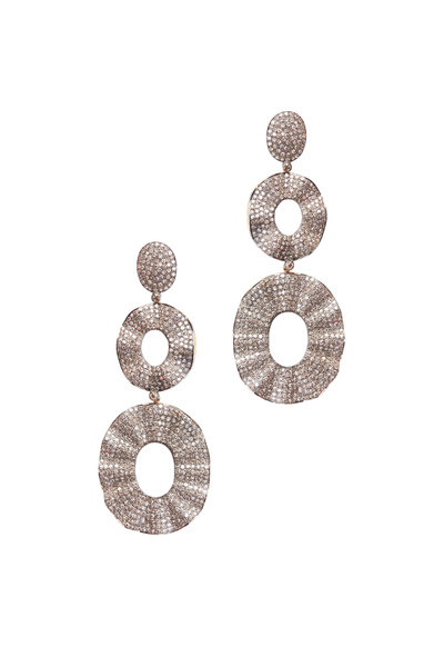 Loren Jewels - Gold & Silver Diamond Drop Earrings