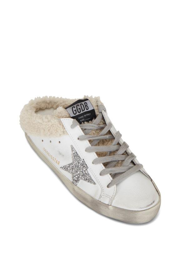 Golden Goose Super-Star White Shearling Lined Slip On Sneaker