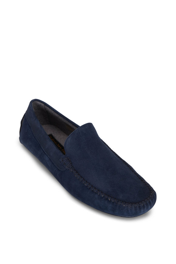 To Boot New York O'Reilly Navy Suede Slipper