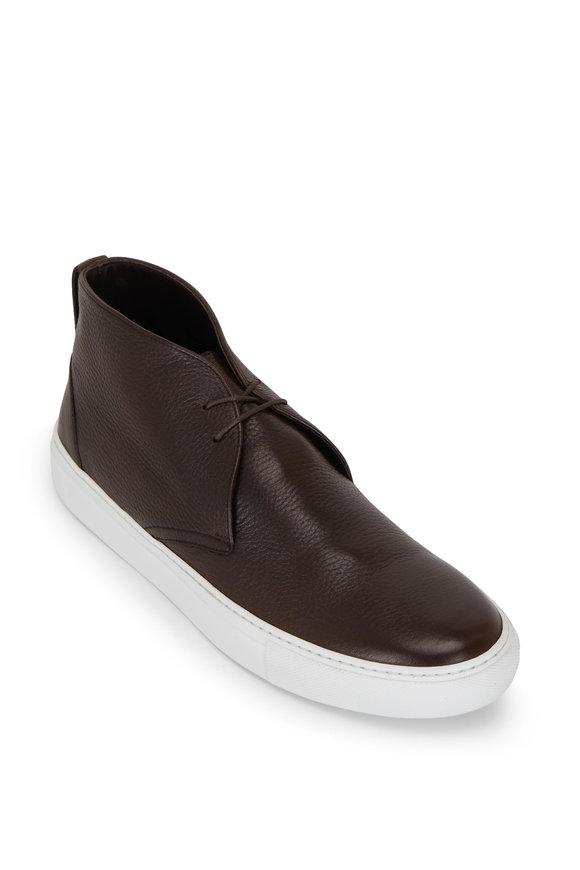 To Boot New York Phillipe Dark Brown Cervo Leather Boot
