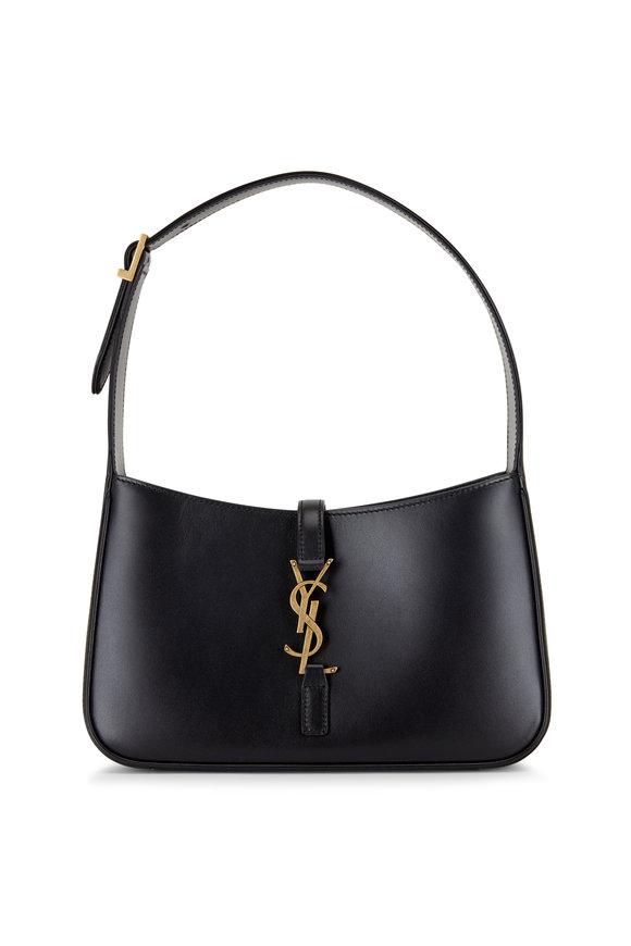 Saint Laurent Black Le 5 À 7 Leather Hobo Bag