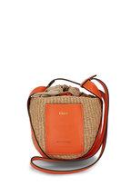 Chloé - Small Basket Radiant Orange Raffia Crossbody