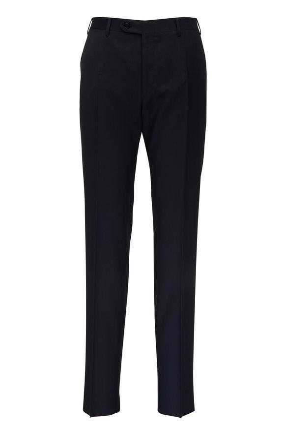 Canali Navy Wool Pant