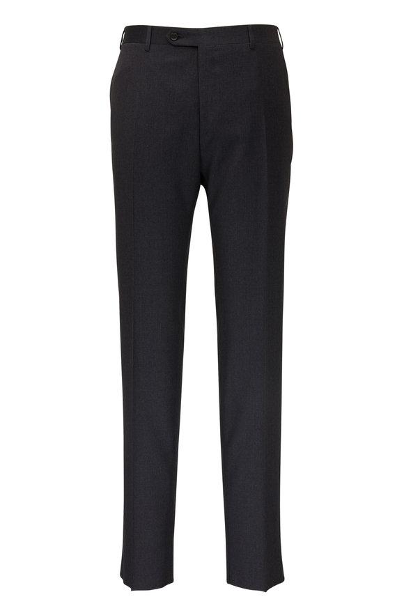Canali Charcoal Gray Wool Pant