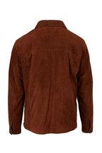 Z Zegna - Brown Suede Shirt Jacket