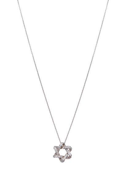 Kwiat - White Gold White Diamond Faith Pendant
