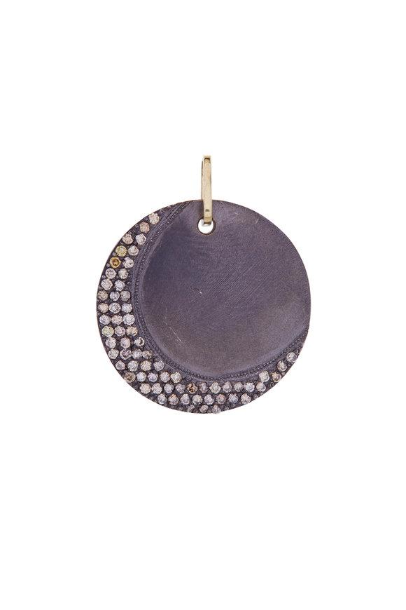.925Suneera Champagne Diamond Crescent Pendant