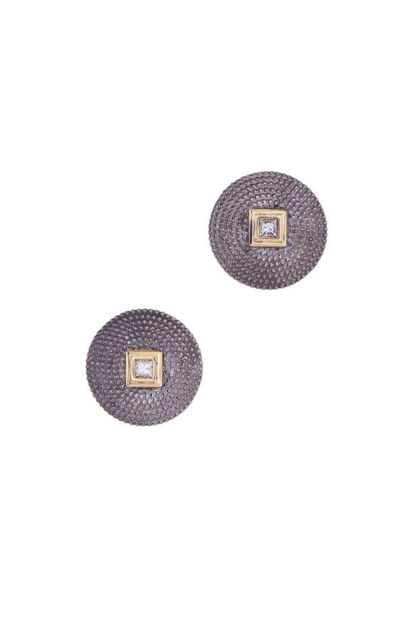 .925Suneera Mixed Metal Diamond Studs