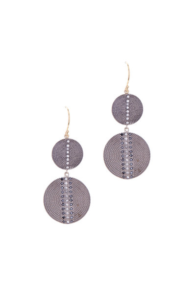 .925Suneera - Mixed Metal White & Black Diamond Earrings