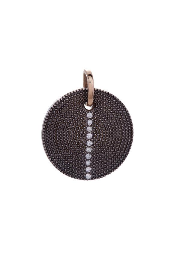 .925Suneera Mixed Metal Diamond Pendant