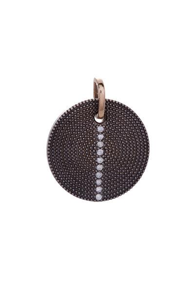 .925Suneera - Mixed Metal Diamond Pendant
