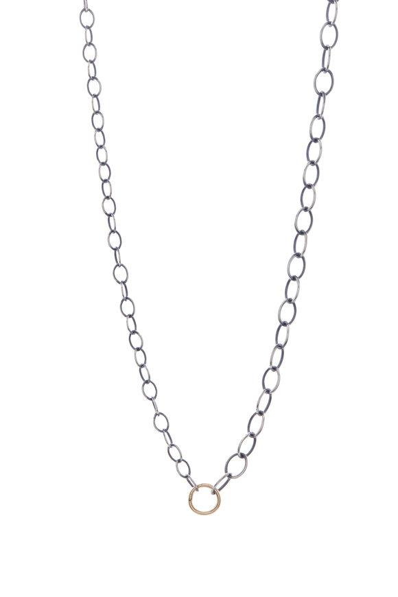 Tina Negri Mixed Oval Link Necklace