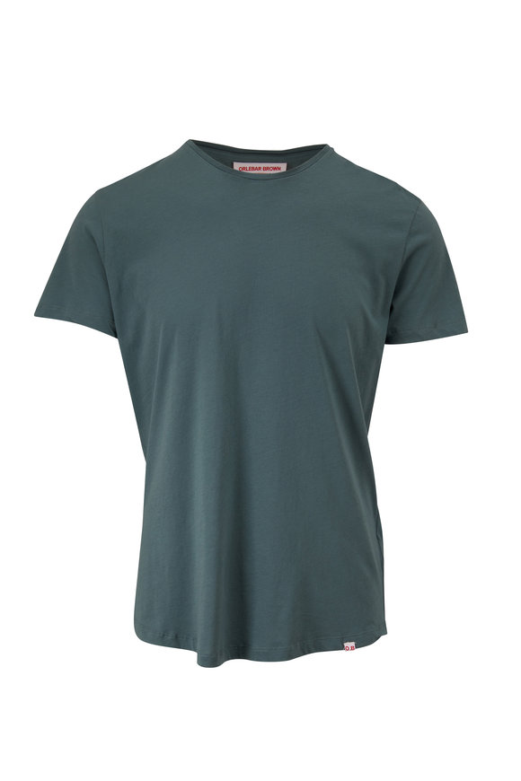 Orlebar Brown OB-T Sage Cotton Crewneck T-Shirt