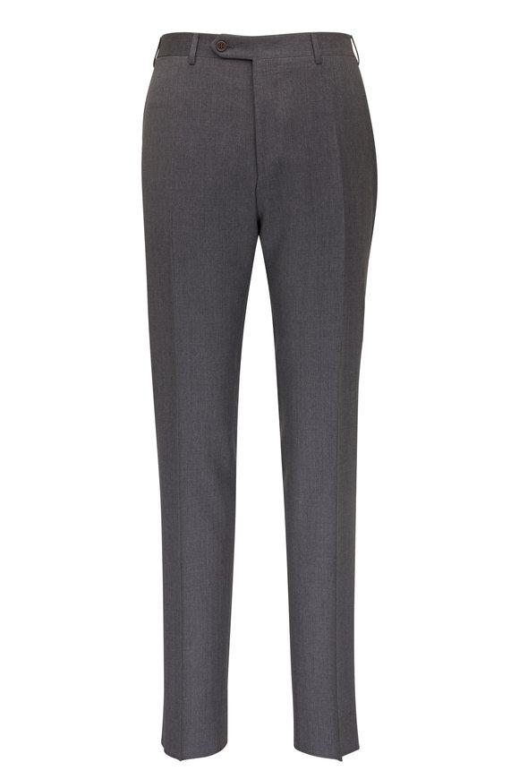 Canali Medium Gray Wool Pant