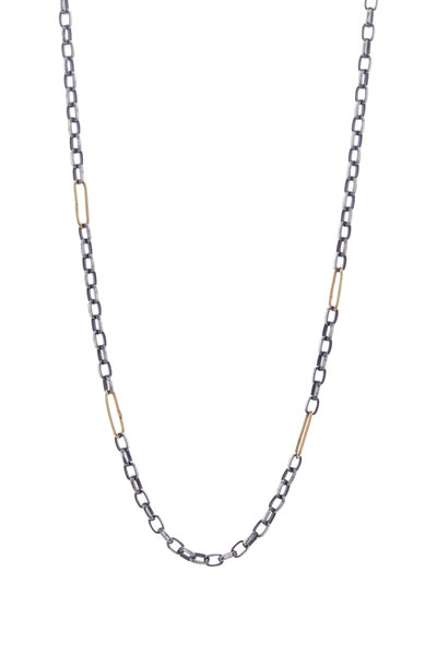 Tina Negri - Gold & Silver Oval Link Necklace