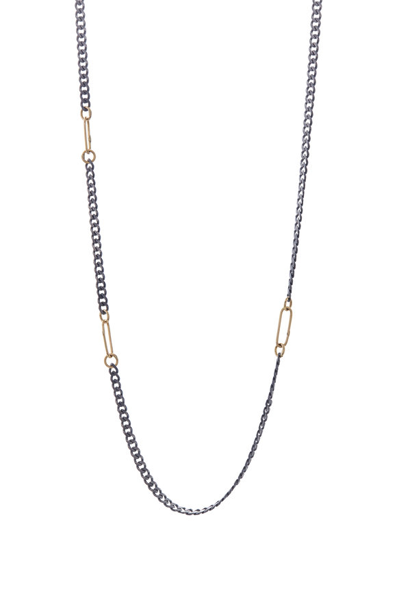 Tina Negri Gold & Silver Chain Necklace