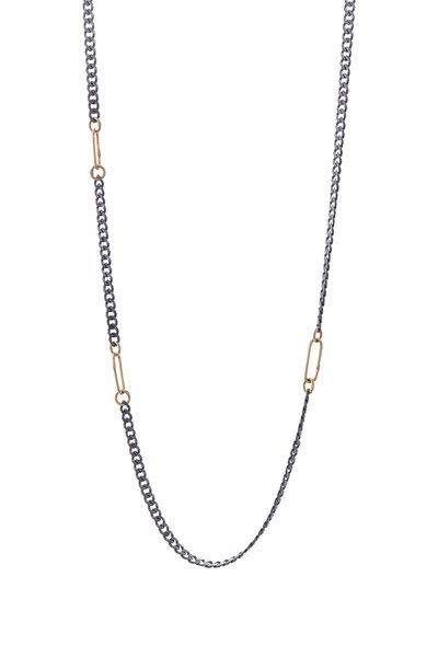 Tina Negri - Gold & Silver Chain Necklace