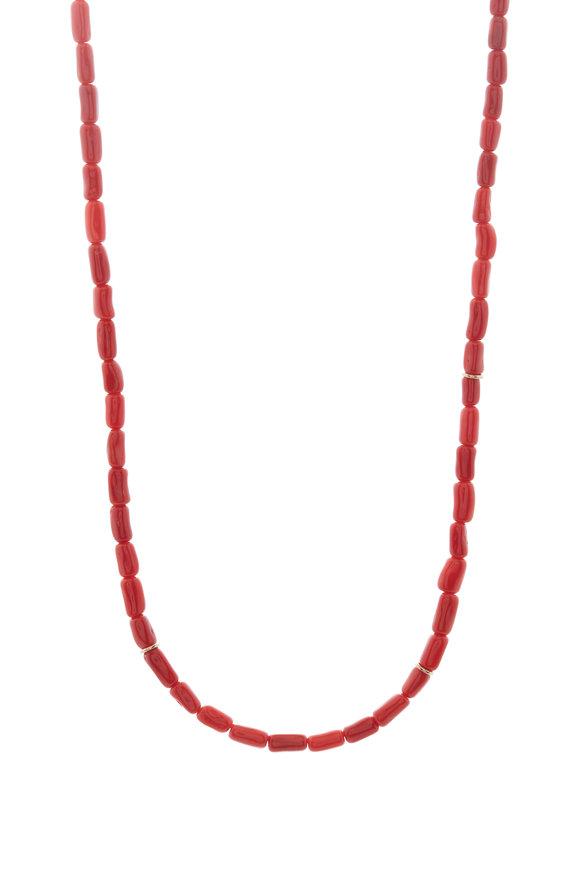 Tina Negri Coral Link Necklace