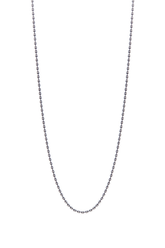 Tina Negri Sterling Silver Bead Ball Necklace