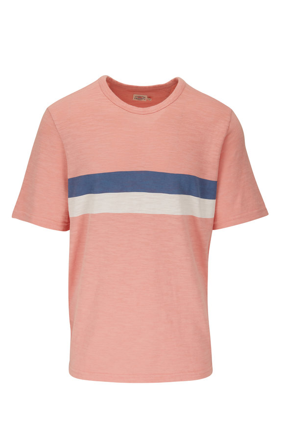 Faherty Brand Pink Stripe Graphic T-Shirt