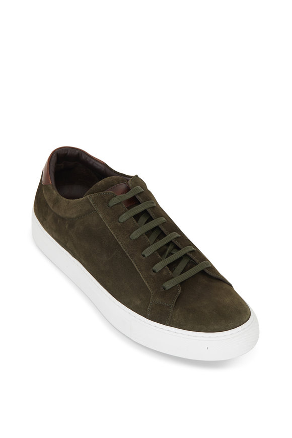 To Boot New York Mayfield Olive Green Suede Sneaker