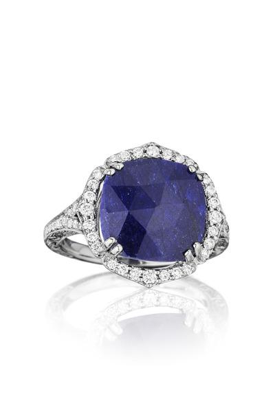 Penny Preville - Diamond Blue Sapphire Ring
