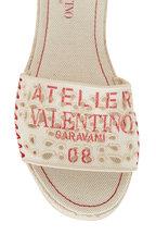 Valentino Garavani - Atelier San Gallo 08 Edition Natural Canvas Slide