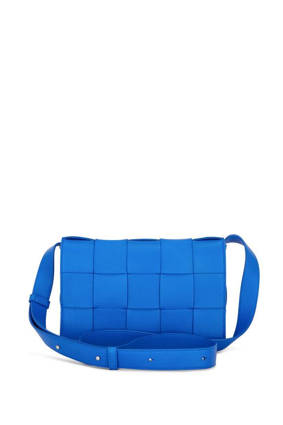 Bottega Veneta Cassette Cobalt Woven Leather Small Bag