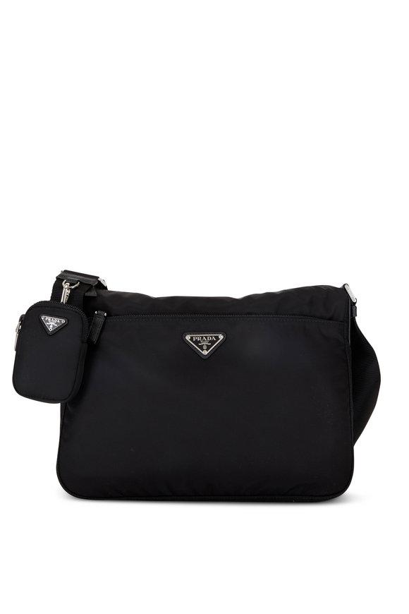 Prada Black ReNylon Pouch Shoulder Bag