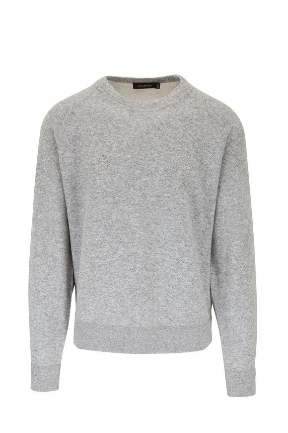 Ermenegildo Zegna Light Gray Wool & Cashmere Sweatshirt