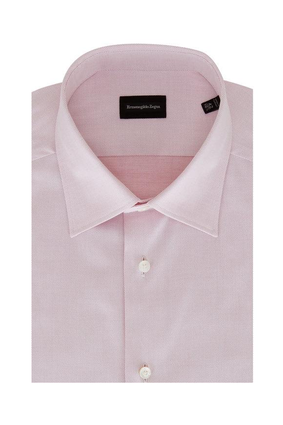 Ermenegildo Zegna Pink Cotton Sport Shirt