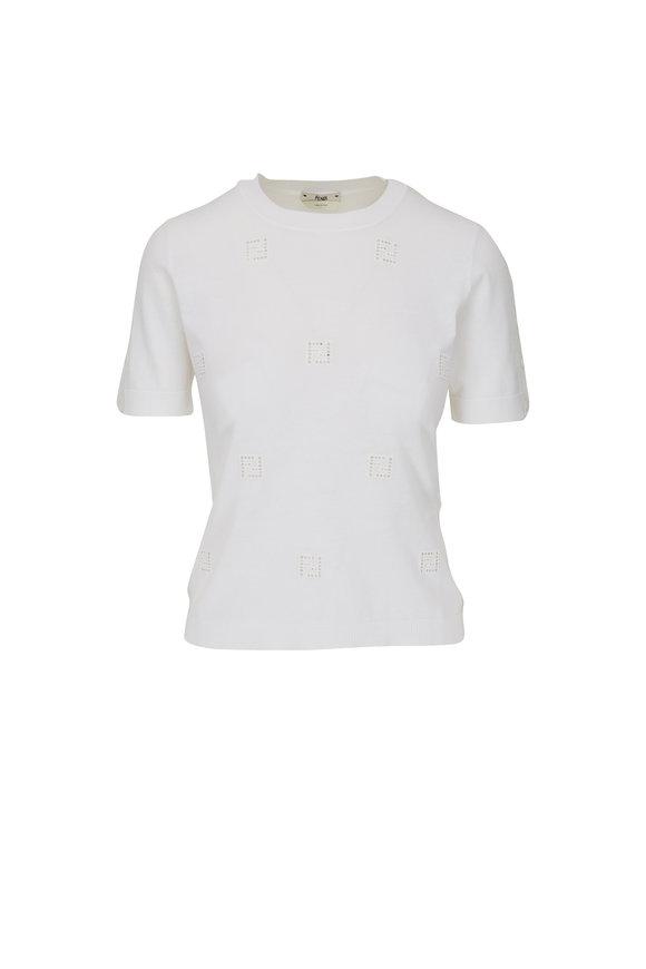 Fendi Ajour White FF T-Shirt