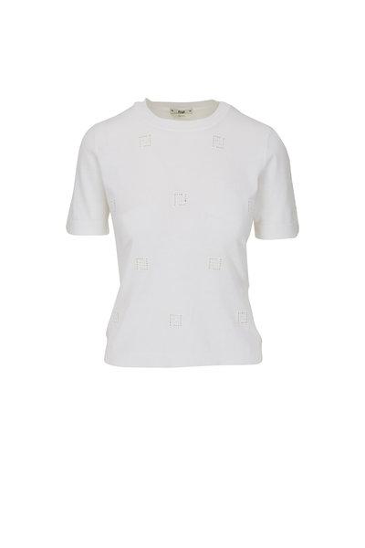 Fendi - Ajour White FF T-Shirt